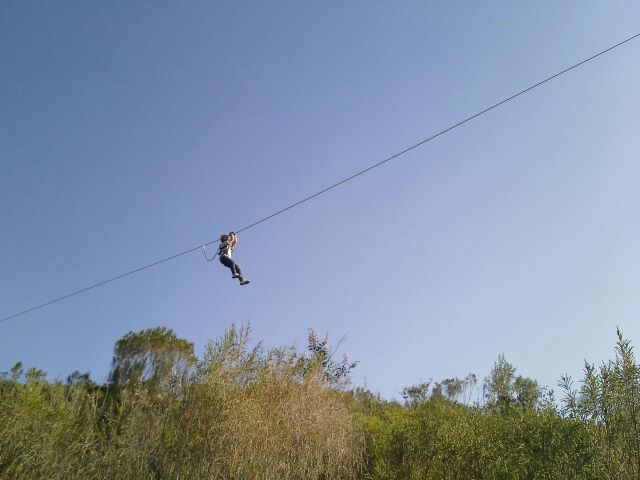 sky view of zipline